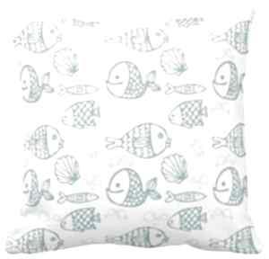 Poszewka na poduszkę dziecięca rybki 3070 pokoik dziecka artmini