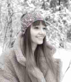 Opaska na włosy, headband, turban opaski szary mary snownoard