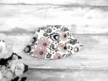 Kapelusz dla dziecka kwiaty dziewczynka lato bawełna cienki