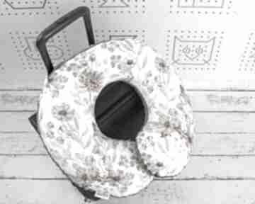 Poduszka podróżna kwiaty vintage białe nuvaart poduszka