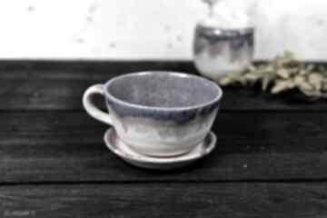 Ceramika azulhorse na prezent, duża filiżanka, beżowa rekodzieło