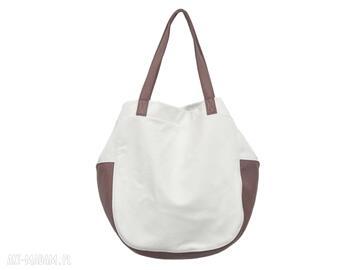 24 -0006 biała torebka damska worek torba na studia swallow
