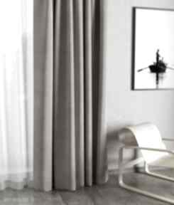 Zasłona velvet cappuccino dekoracje manufaktura firan zasłona