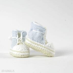 Trampki niemowlęce little blue toddly trampki, buciki, włóczka