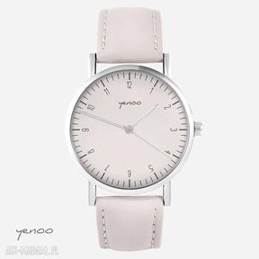 Zegarek - simple elegance pudrowy róż, skórzany zegarki yenoo
