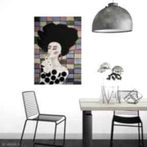 Plakat 100x70 cm kolorowa kobieta plakaty kof plakat, wydruk
