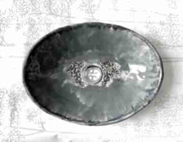 "Ceramiczna umywalka ""morska toń"" ceramika ceramystiq studio"