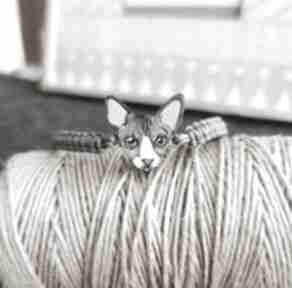 Bransoletka kot sphinx homemade by n kot, sfinks, ręcznie