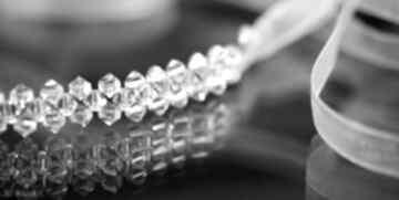 Kryształowa opaska ozdoby do włosów selenit swarovski, kryształ