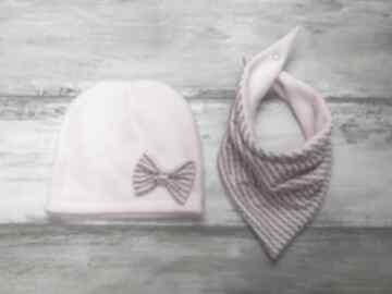 Ciepły zimowy komplet czapka trójkąt komin szalik zima polar zimę