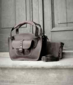 Skórzana ręcznie wykonana torebka kuferek rozmiar mw kolorze
