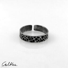 Plamki - srebrna obrączka 200803 -06 obrączki caltha pierścionek