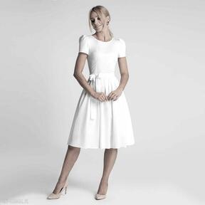 Sukienka candice midi biel sukienki livia clue midi, bawełna