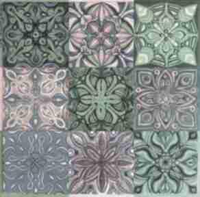 Mozaika aragonia 3x3 pi art malarstwo, mozaika, obraz, kafelki