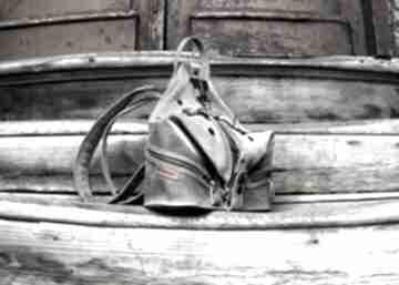 Skórzany plecak i torebka na ramię w jednym ręcznie wykonany