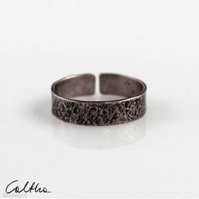 Kamień - miedziana obrączka 200305 -01 obrączki caltha