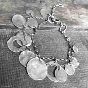 Bransoletka srebrna treendy oksydowana, ze srebra, autorska