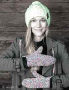 Rękawiczki kolorki brain inside rękawiczki, ciepłe dwupalczaste