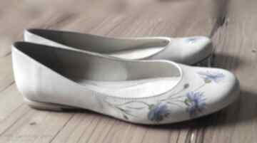 Baleriny chabry buty swarne malowane, chabry, folk, kwiaty,