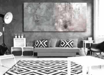 Bardzo duży obraz do salonu z rzeźbą dekoracje art and texture