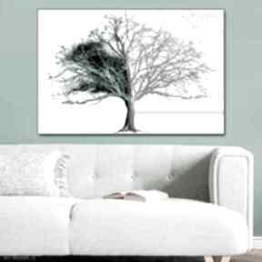Obrazy nowoczesne do salonu drzewo dnia i nocy 120x80, obraz