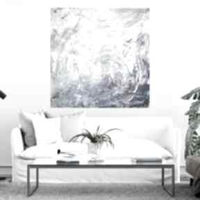Obraz abstrakcja 90x90 byferens turkusowy obraz, niebieska