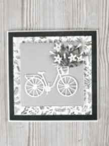 Kartka z rowerem do personalizacji scrapbooking kartki m art