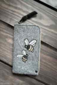 Filcowe etui na telefon - pszczółki happyart smartfon, pokrowiec