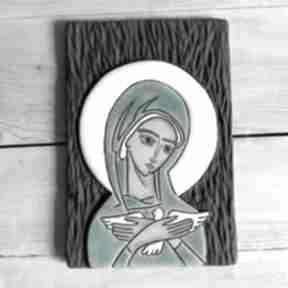 Ikona ceramiczna z wizerunkiem maryi - pneumatofora smokfa ikona