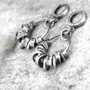 Ag 925 koła - kolczyki 05 arvena srebro oksydowane, 925, koła