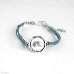 Bransoletka - jeżyk niebieska, sznurki yenoo bransoletka, jeż