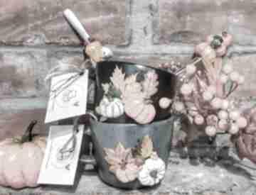 Kubek dekorowany ręcznie w jesiennym stylu kubki kubekzuzi