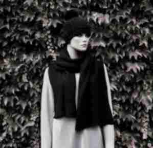 Gruby czarny szal szaliki hermina ciepły szal, zimowy, męski sal