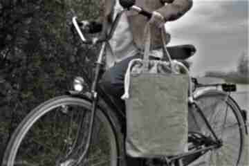 Shopper len paproć na ramię manufakturamms vegan, torebka, torba
