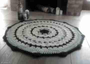 Dywan the quendi artedania szydełkowy, ze sznurka, okrągły