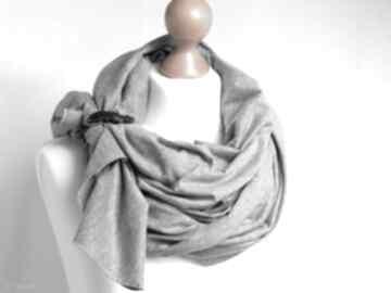 Szal chusta bawełniana z zapinką, wiosenno - letnia chustki