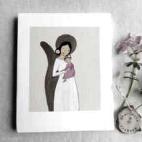 Obrazek na chrzest święty - dziewczynka dla dziecka pracownia