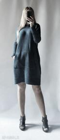 Sukienka oversize z kapturem sukienki feltrisimi luźna, oversize
