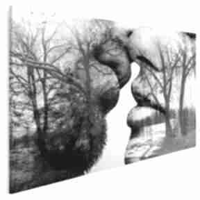 Obraz na płótnie - pocałunek drzewa 150x100 cm 29501 vaku dsgn