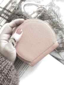 Portmonetka skórzana pumpkin pomarańczowa portfele tenaro