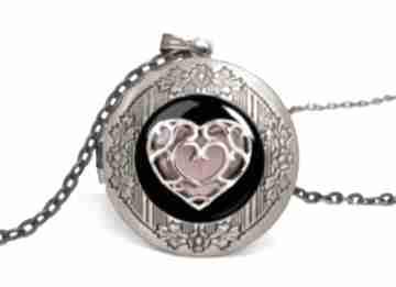 Serce sekretnik łańcuszkiem walentynki prezent zelda romantyczny