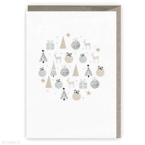 Świąteczny prezent! Kartka bożonarodzeniowa - bombka cardie