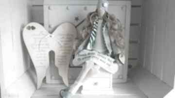 Anioł pamiątka pierwszej komunii świętej lalki