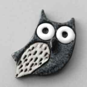 KOPALNIA CIEPLA. MĄDRALIŃSKA-broszka ceramiczna