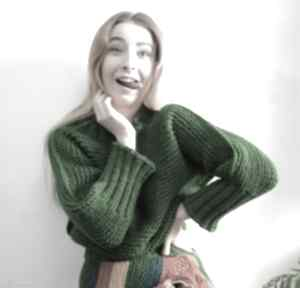 Trawiasty: sweter swetry barska sweter, sweterek, trawiasty