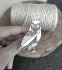 Pin sowa geometryczna broszki homemade by n sowa, geometryczne