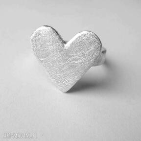 Serduszko pierścionek katarzyna kaminska srebro, serce,