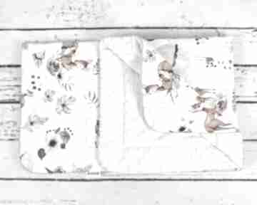 Kocyk minky 75x100 deer in flower dla dziecka nuvaart kocyk