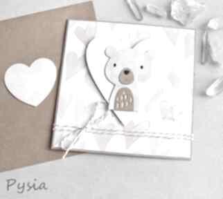 Misia pysia - kartka dla dziewczynki kartki kaktusia miś