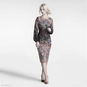 Sukienka lidia midi celestia sukienki livia clue dopasowana